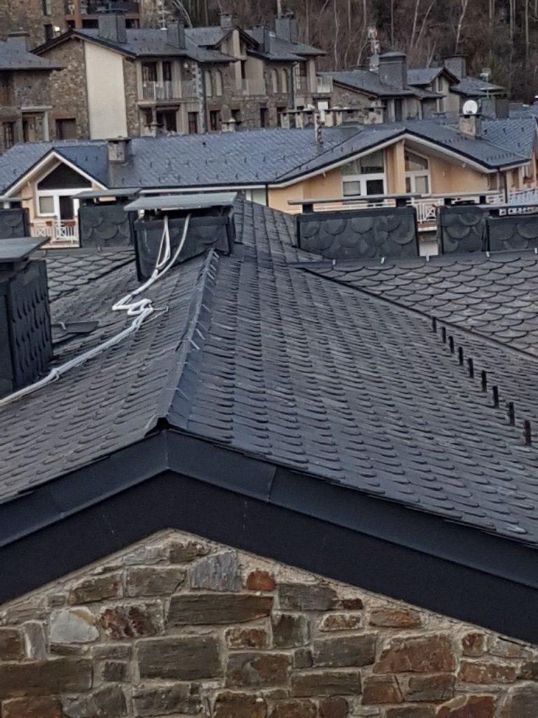 Construccions Nuñez Andorra reparación de cubiertas de pizarra y renovación de todo tipo de cubiertas y tejados de pizarra
